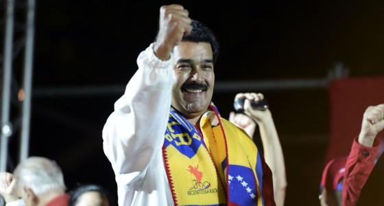 Maduro, la noche del domingo electoral.