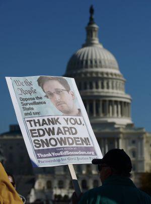 Manifestación a favor de Snowden el pasado 26 de octubre en Washington.