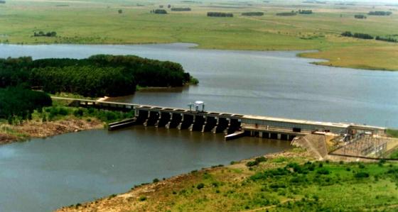 Una presa en Uruguay.