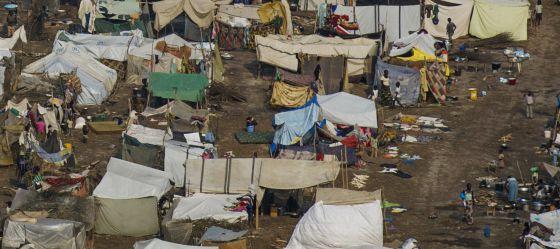 Un campo de refugiados cerca del aeropuerto de Bangui.