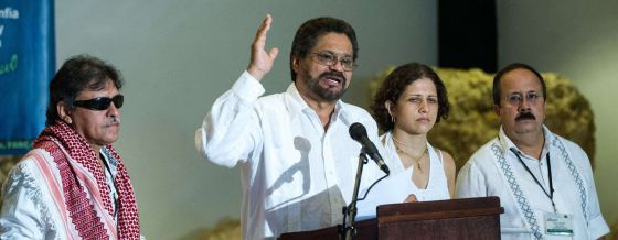 Los negociadores de las FARC, en La Habana.