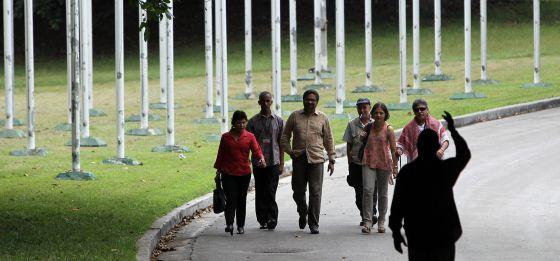 La delegación de las FARC, la semana pasada en La Habana.