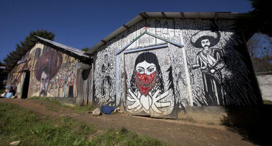Comunidad zapatista de Oventic, en San Andrés Larráinzar, (Chiapas).