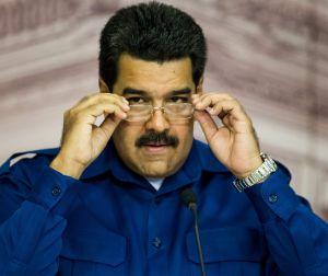 Maduro, durante la rueda de prensa.