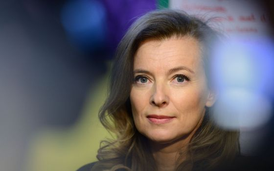 Valérie Trierweiler, pareja de Hollande.