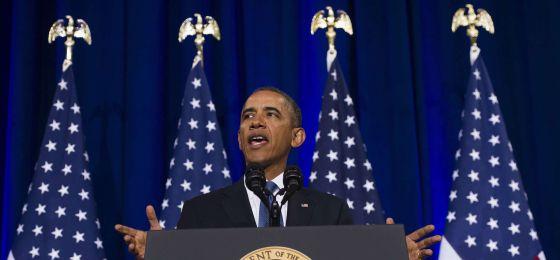 Barack Obama durante la rueda de prensa sobre la NSA.