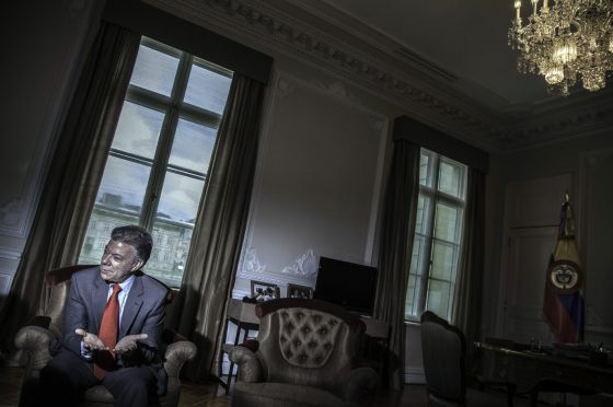 Juan Manuel Santos, en la sede de la Presidencia de Colombia durante una entrevista en septiembre.