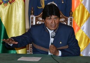 Evo Morales, en una intervención en La Paz.