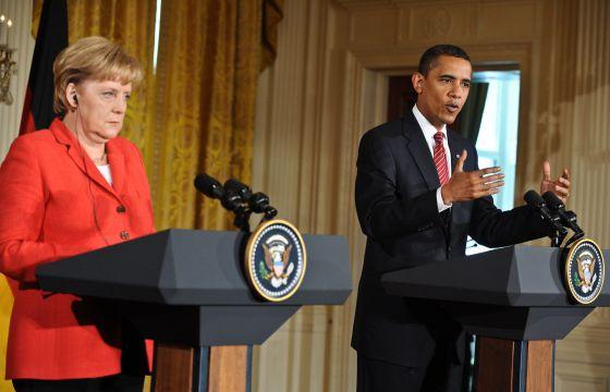 Angela Merkel y Barack Obama en 2009 en la Casa Blanca.