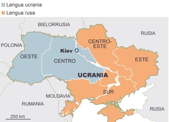 Ucrania: las fronteras de un país bipolar