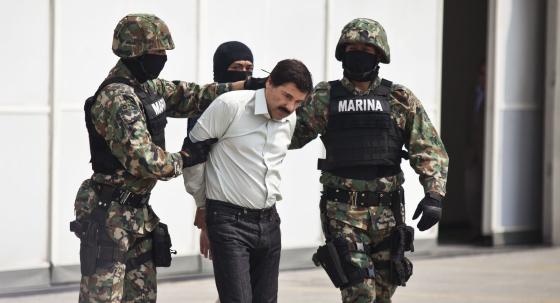 Joaquín Guzmán Loera, este sábado en la Ciudad de México.