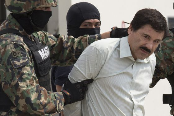 Joaquín 'El Chapo' Guzmán, following his arrest on Saturday.