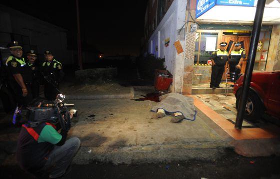 Escena del crimen en Los Reyes, donde fueron asesinadas cuatro personas.