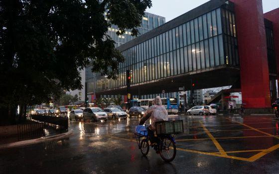 Tráfico en Sao Paulo.