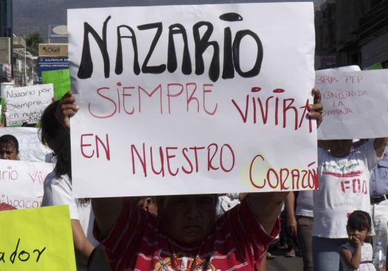 Una pancarta en una manifestación a favor del capo en 2010.