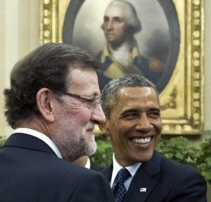 rajoy y Obama, en la Casa Blanca el 13 de enero.