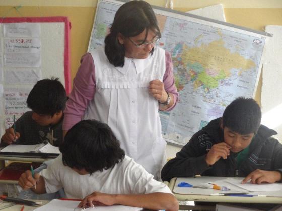 Escuela en la provincia de Salta, Argentina