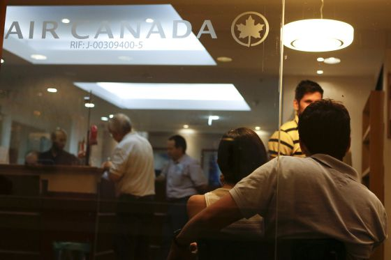 Oficina de Air Canada en Caracas.