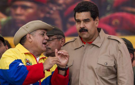 Cabello y Maduro, el sábado pasado en Caracas.