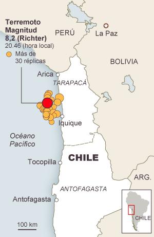 Chile resiste un potente seísmo en el norte del país