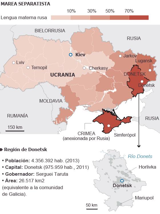 Activistas prorrusos declaran la República independiente de Donetsk