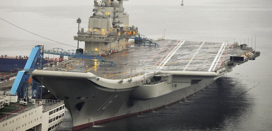 Imagen del portaaviones chino Liaoning, en septiembre de 2012.
