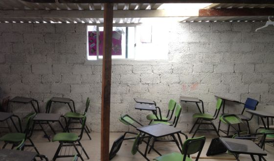 Una escuela en México durante unas vacaciones.