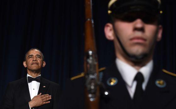 Obama, en la cena de gala con la prensa, el sábado en Washington