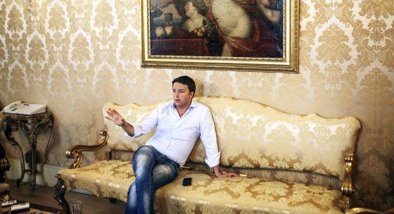 Matteo Renzi en el Palazzo Chigi, Roma.