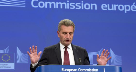 El comisario europeo de energía, Guenther Oettinger, en Bruselas.