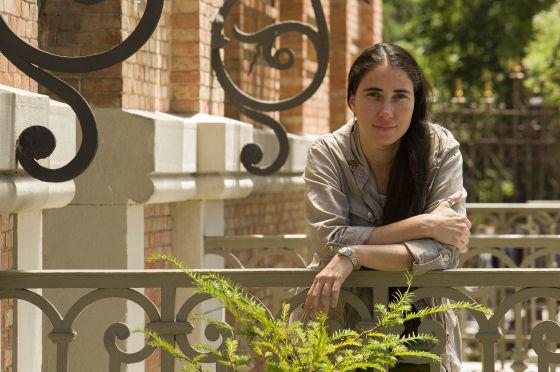 Yoani Sánchez, el miércoles pasado en Madrid