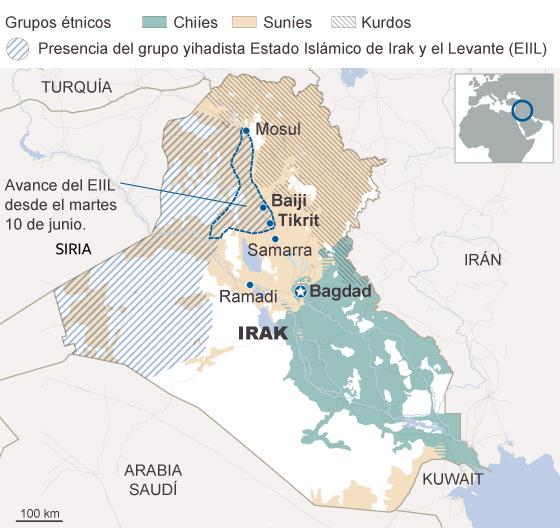 Los yihadistas que tomaron Mosul penetran en la ciudad iraquí de Tikrit
