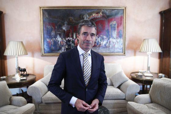 Anders Fogh Rasmussen, este jueves en Madrid.