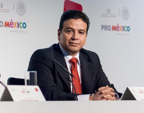 Arturo Cervantes en un Evento de ProMéxico.