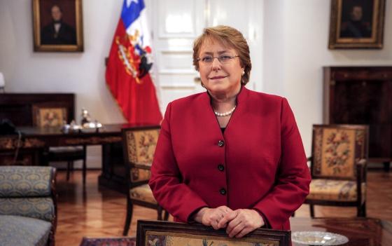 La presidenta de Chile, Michelle Bachelet, en el Palacio de La Moneda el pasado 23 de junio.