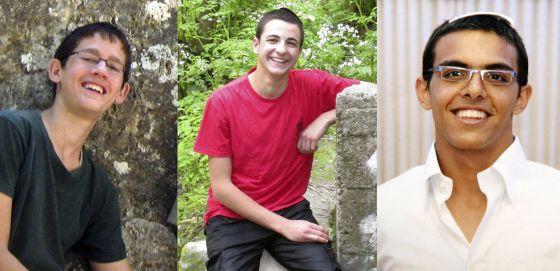Los tres jóvenes judíos: Naftali Fraenkel, Gilad Shaar y Eyal Yifrah.