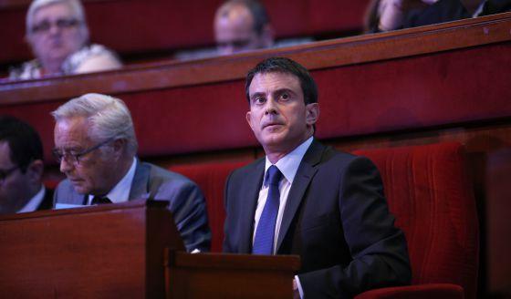 El primer ministro francés, Manuel Valls, este martes en París.