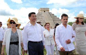 El presidente chino, Xi Jinping, con su homólogo mexicano, Peña Nieto en su visita a México en 2013