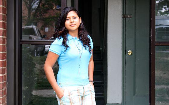 Chirley emigró sola el año pasado a EE UU desde Guatemala. Pasó un mes retenida en McAllen, Texas, hasta poder reunirse con su madre.