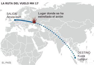 Un misil derriba un avión malasio con 298 pasajeros en el este de Ucrania
