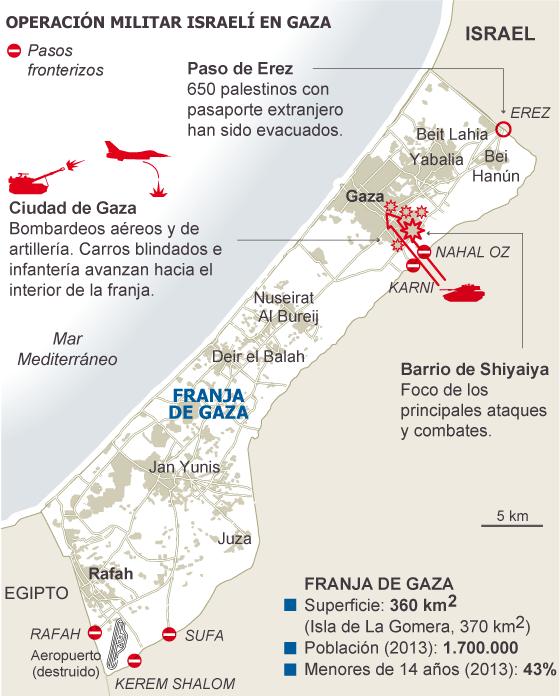 Fuente: Oficina Central de Estadísticas de Palestina y agencias.