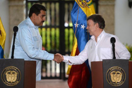 Los presidentes de Venezuela y Colombia, en el encuentro de Cartagena