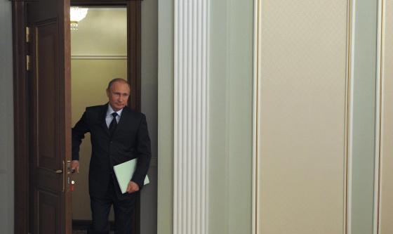 El presidente ruso, Vladímir Putin, en su residencia estatal a las afueras de Moscú, el 6 de agosto