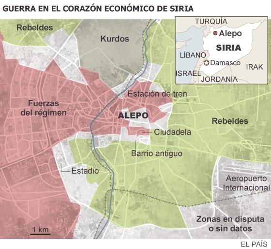 Alepo, la ciudad de las tres batallas