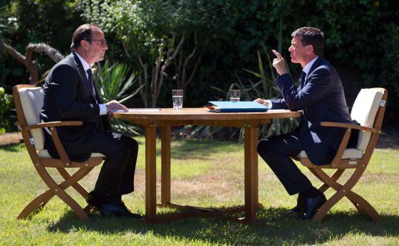François Hollande y Manuel Valls, el pasado 15 de agosto.