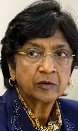 La Alta Comisionada de Derechos Humanos, Navi Pillay.