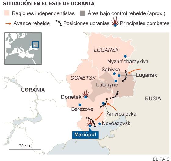 Kiev y los separatistas anuncian un alto el fuego en el este de Ucrania