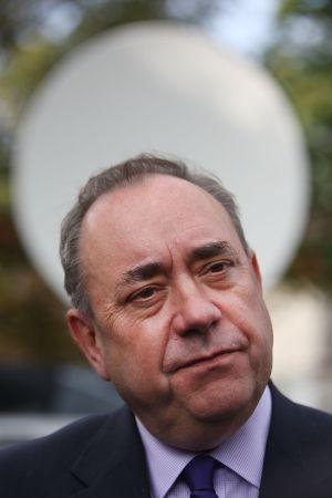 Alex Salmond, ayer en Glasgow.