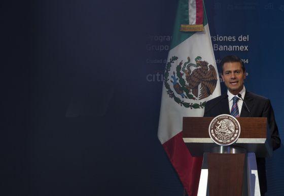 El presidente Enrique Peña Nieto, este jueves en el DF.