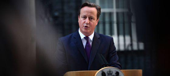 Cameron, en su comparecencia para valorar el resultado del referéndum.
